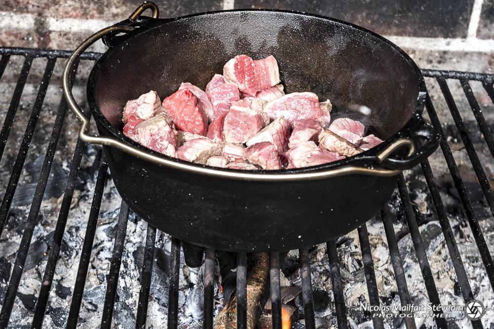 Faire revenir la viande
