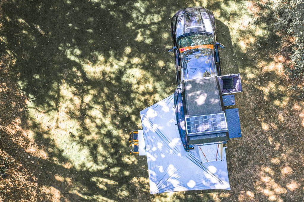 Vue de dessus de la cellule Alu Cab